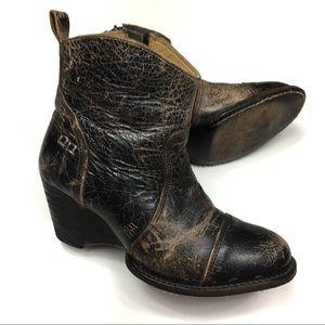 Bed Stu Gentry Black Lux Cobbler Series Boots
